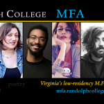 From left, Kaitlyn Greenidge, Aviya Kushner, Phillip B. Williams, Layli Long Soldier, Kaveh Akbar, and Mira Jacob