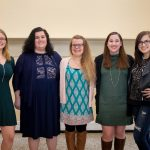 Congratulations to #RandolphCollege's winter #graduates! A luncheon was held in their honor today in the Alice Ashley Jack Room of Smith Memorial Building. Pictured are some of the graduates: (from left) Allison Kay Brooks, Fabrina Marie Goodell , Kaitlin Mari Evans, Margaret Grace Goldberg, and Rachel Allyson Beaver.