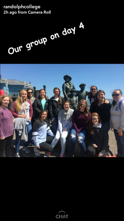 Randolph students at an emigration monument in Ireland