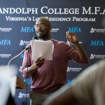 M.F.A. faculty member Phillip B. Williams reads his work during the M.F.A. residency at Randolph this summer
