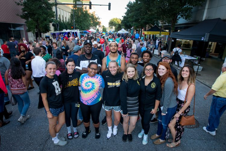 Randolph students at the Get Downtown festival in 2017