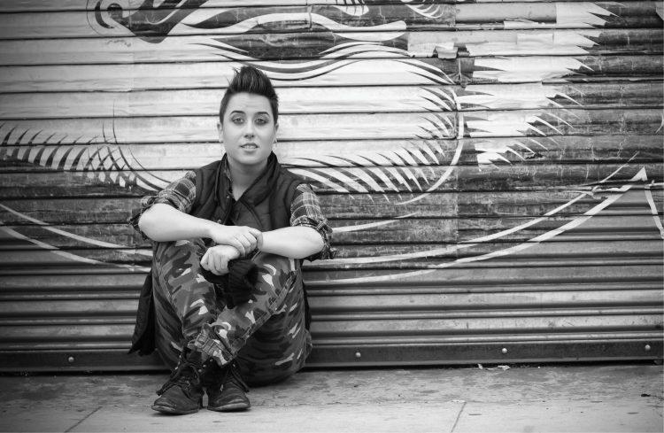Lianna Carrera '07 in a black and white photo