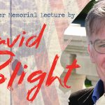 Thayer lecture poster with photo of David Blight