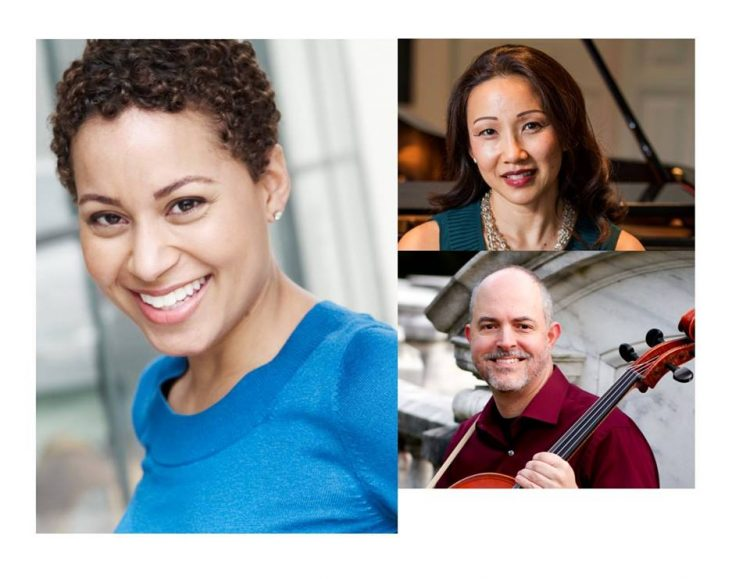 (clockwise, from left) Katherine Jolly, Emily Yap Chua, and Andrew Gabbert