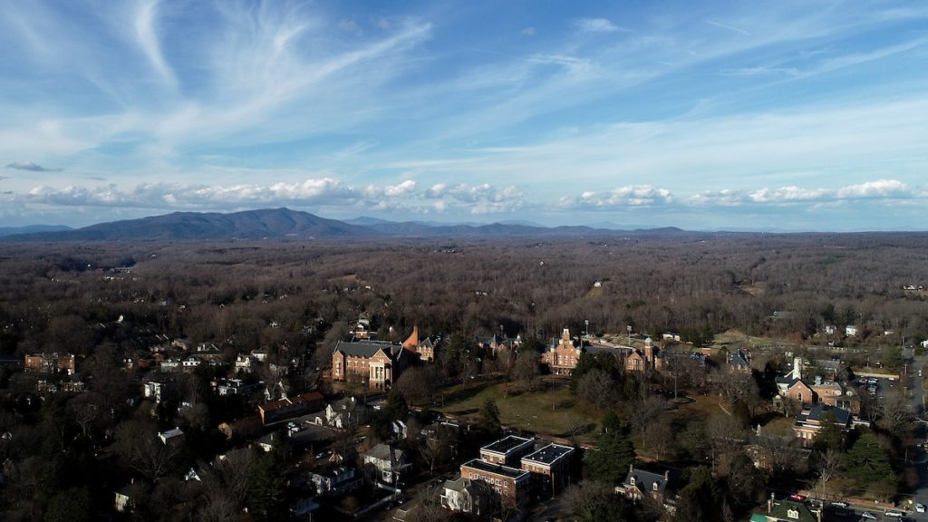 Aerial view of Randolph and the surrounding community in Lynchburg, Va.