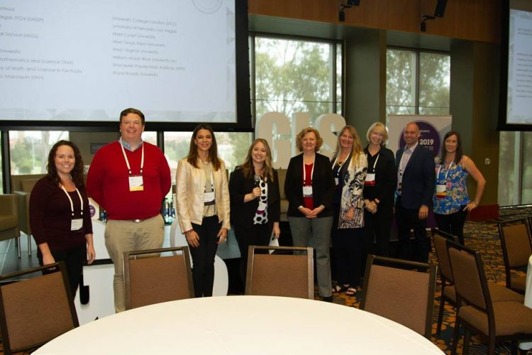 Christine Harriger and Kristin Dabney were recognized along with representatives from other Silver Award-winning institutions at the Graduway Leaders Summit in Los Angeles.