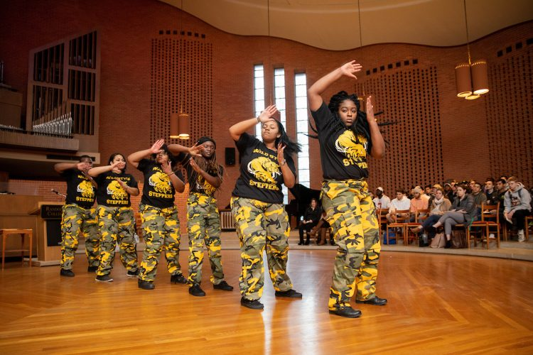 The Step Team performed a special routine at Randolph's Martin Luther King, Jr. Memorial Service in January