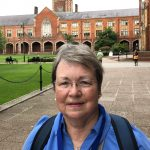 Cheryl Lindeman on the campus of Queen's University Belfast
