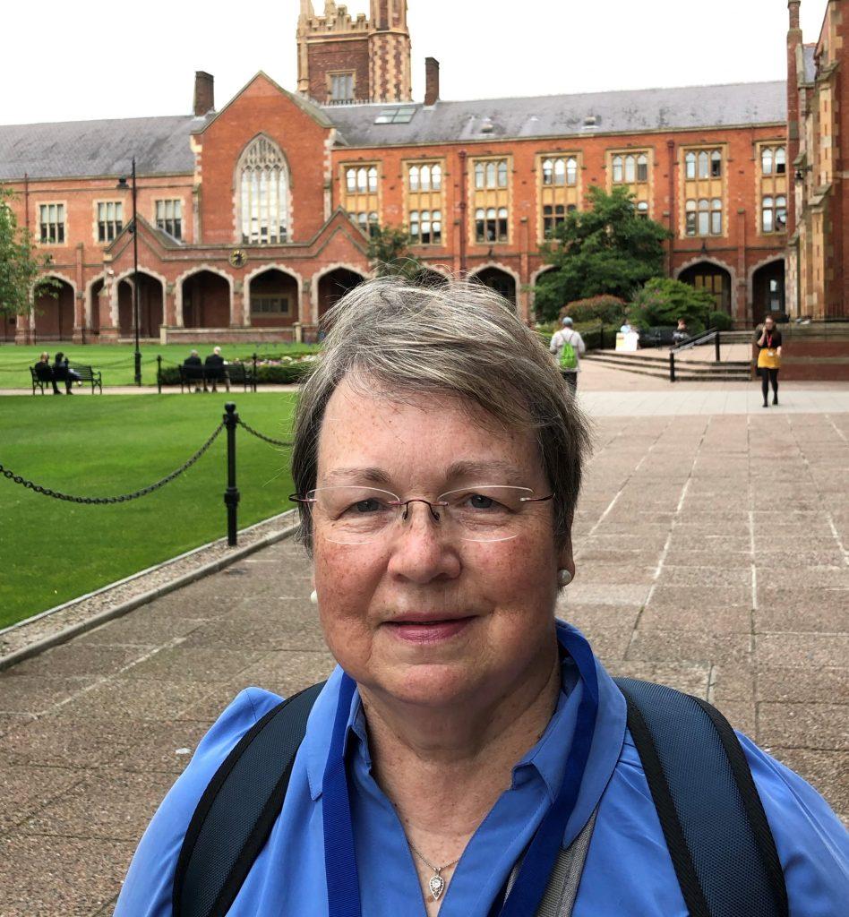 Cheryl Lindeman on the campus of Queen's University Belfast