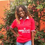 Ranita Opoku-Sarfo wearing her Sawa World T-shirt