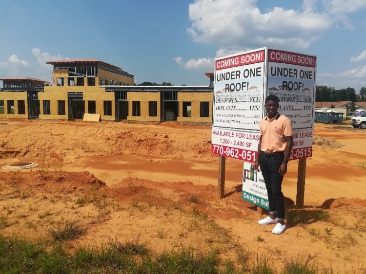Niles Brown stands on the construction site for the new building he is helping design for Gateway Dental Exchange in Atlanta, Ga.