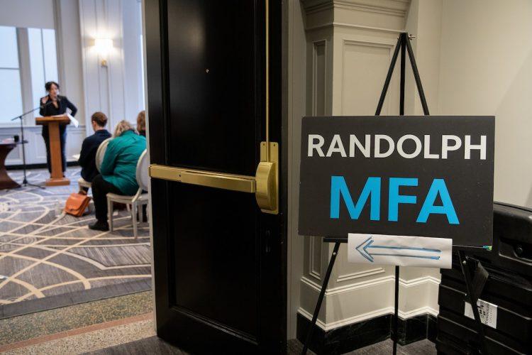 Randolph MFA sign