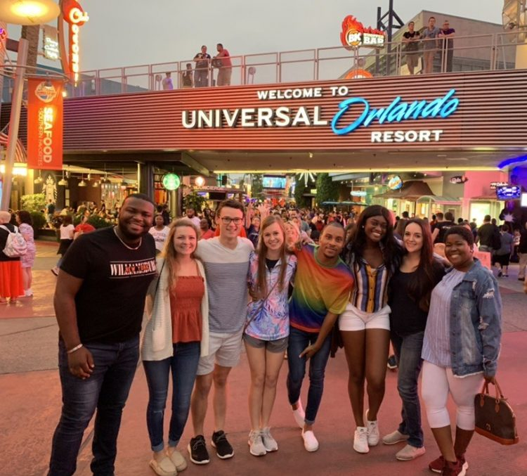 While in Orlando, the group visited Universal Studios for its Halloween Horror Nights