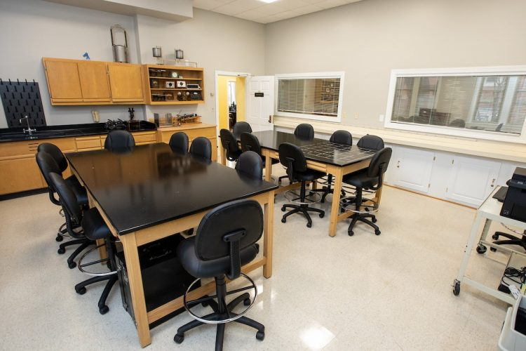 New chairs, tables, locked cabinets, freshly painted walls, and two-way mirrors are some of the most noticeable changes in the main laboratory