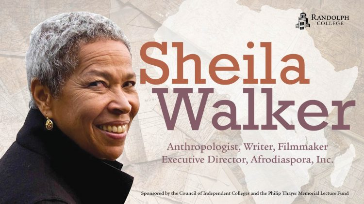 Graphic for Thayer Lecture featuring Sheila Walker