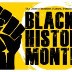 Logo/flyer for Black History Month events