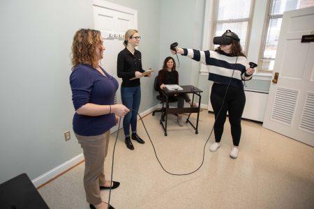 Randolph's virtual reality testing room