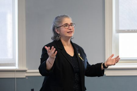 Classics professor Amy Cohen, the Catherine Ehrman Thoresen `23 and William E. Thoresen Chair of Speech and Theatre.