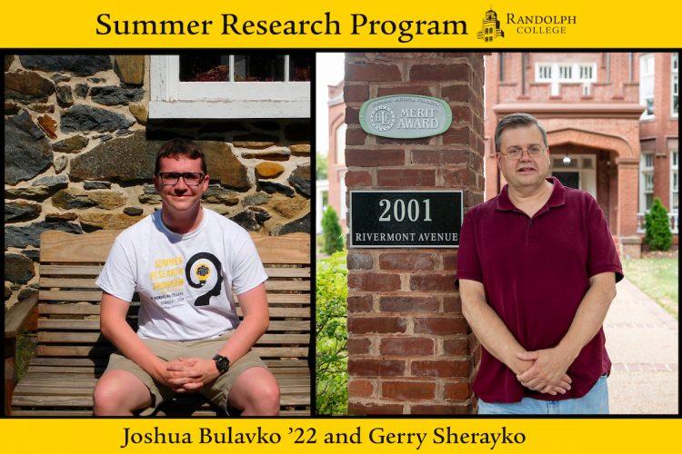 Joshua Bulavko '22 and Gerry Sherayko