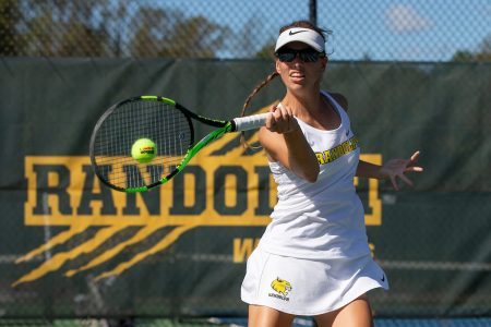 Ashley Schmitz '20 is among the Randolph graduates enrolled in the new Master of Arts in Coaching and Sport Leadership program. She is utilizing her fifth year of eligibility to continue playing tennis while working toward her degree.