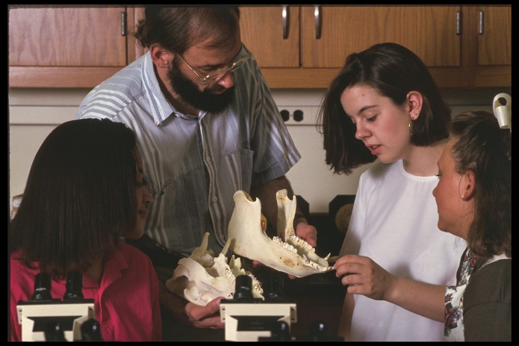 Doug Shedd works with students in this photo from the Randolph archives.