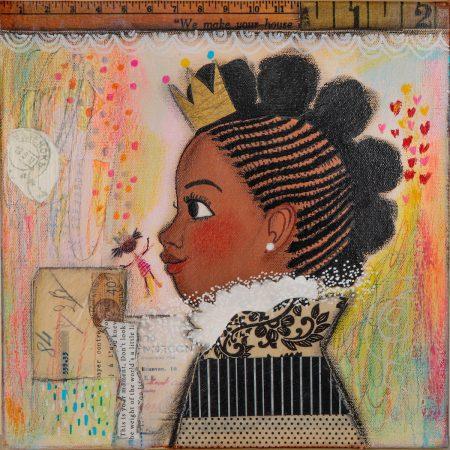 """Vanessa Brantley-Newton's """"Brown Princess No. 2"""""""