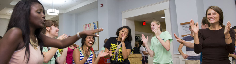 Orientation social night for at the Student Center