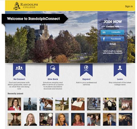 Randolph Connect web site