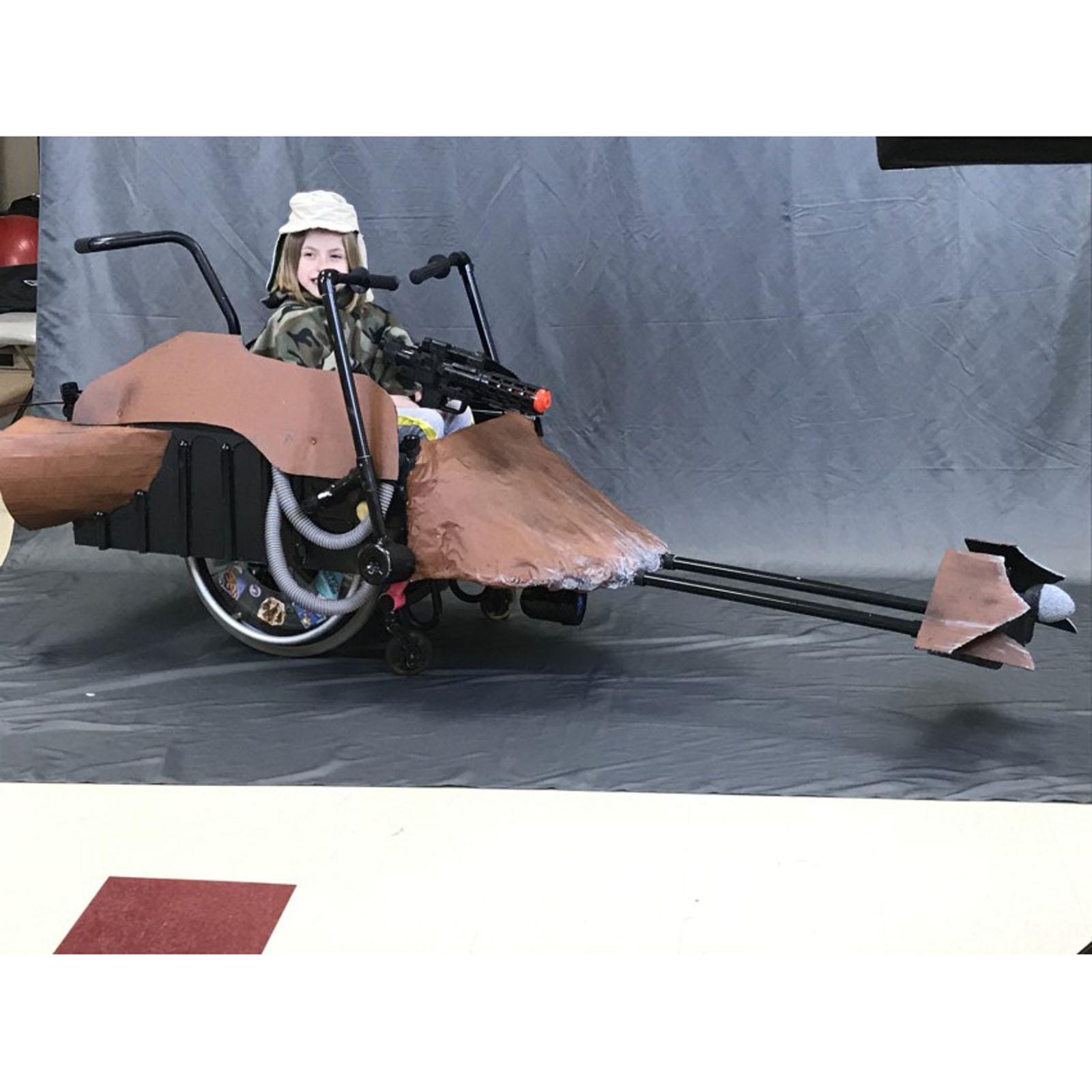 Hallowheels Princess Leia Speeder Wheelchair Costume