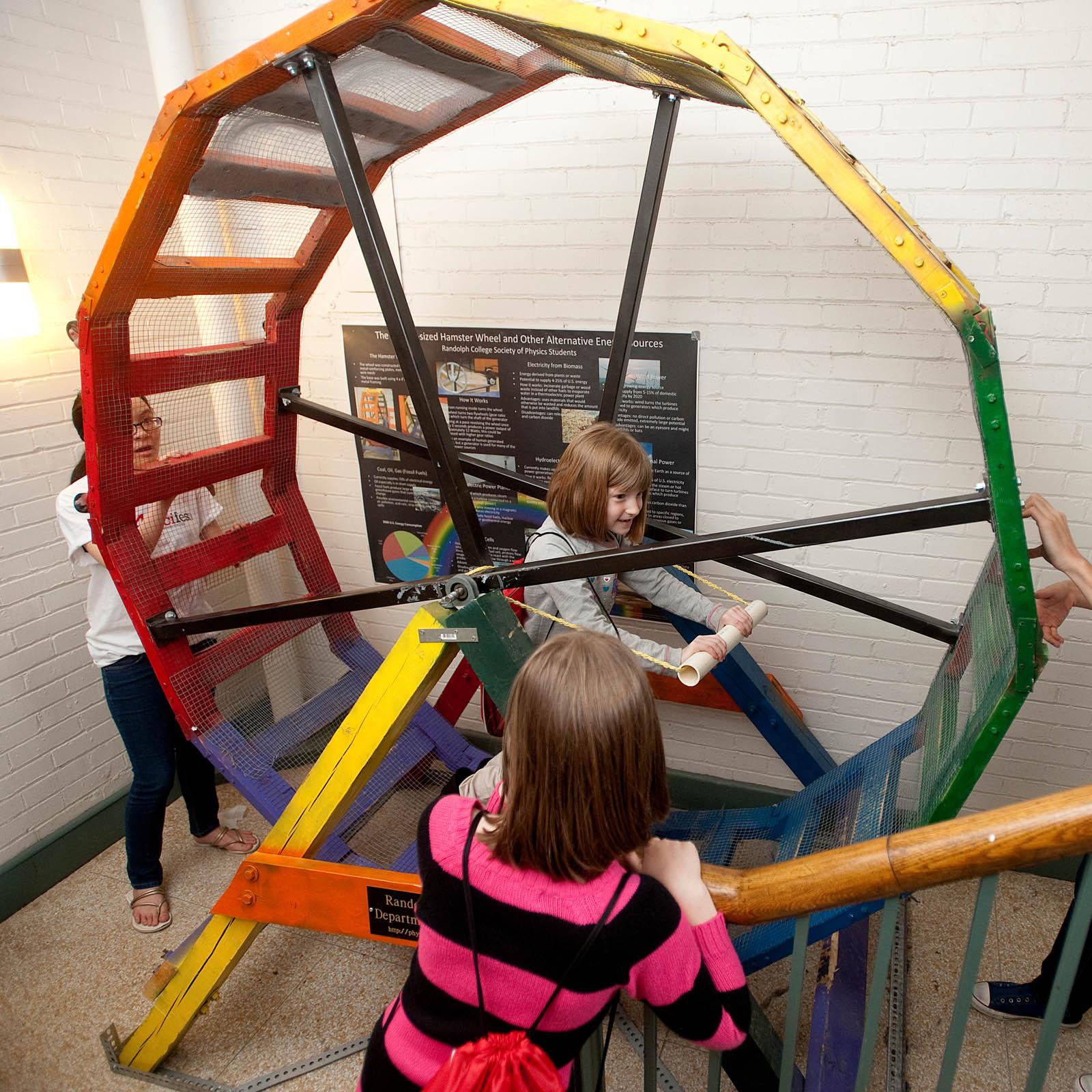 human sized hamster wheel at Randolph College