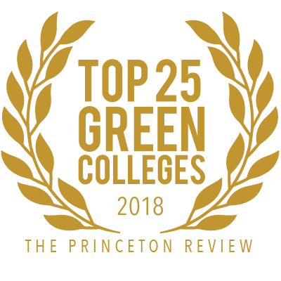 Randolph College is ranked among the Top 25 Green Colleges by The Princeton Review