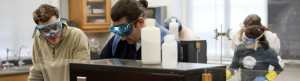 Banner Image - students in chemistry lab