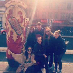 students on road trip to Nashville, TN