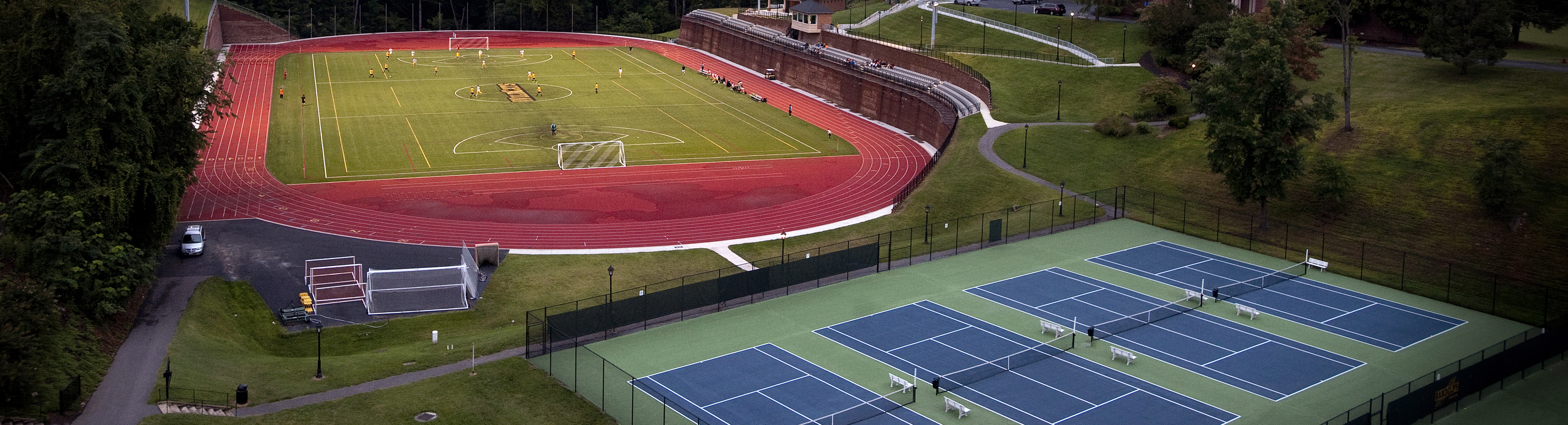 Photo of soccer field and tennis courts