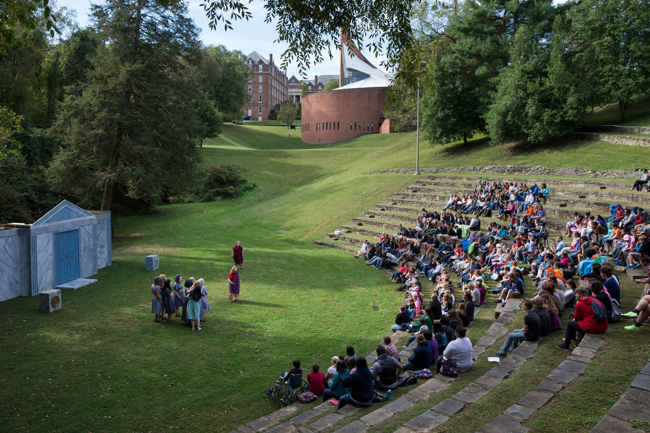 The Greek Play is performed in the Mabel K. Whiteside Greek Theatre