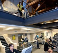 fitness room in student center